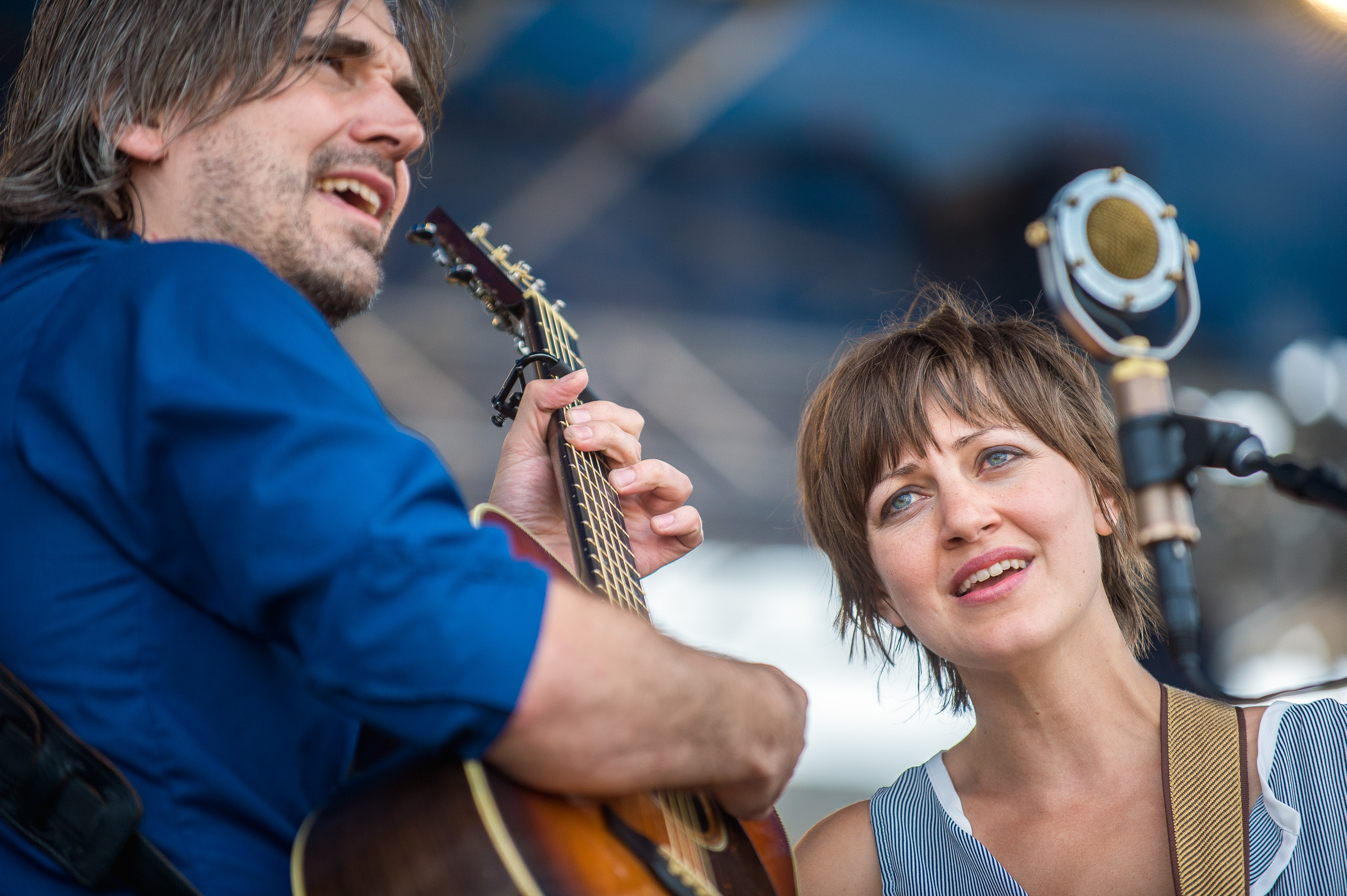 Anais Mitchell & Jefferson Hamer perform at the 2014 Newport Folk Festival-2