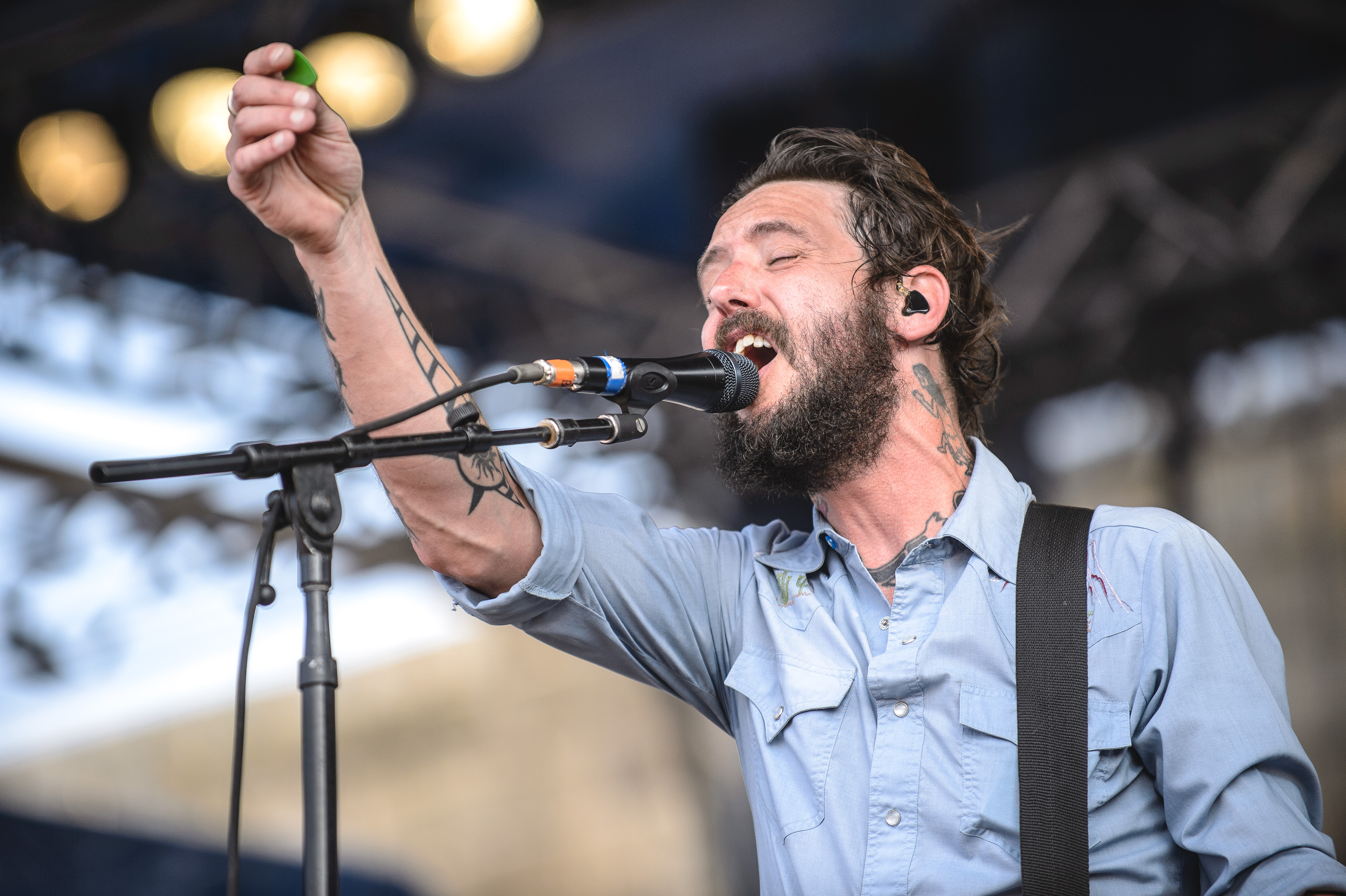 Band of Horses performs at the 2014 Newport Folk Festival-4