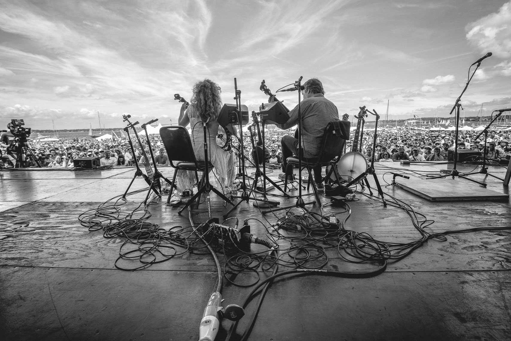 Bela Fleck and Abigail Washburn at Newport Folk Festival