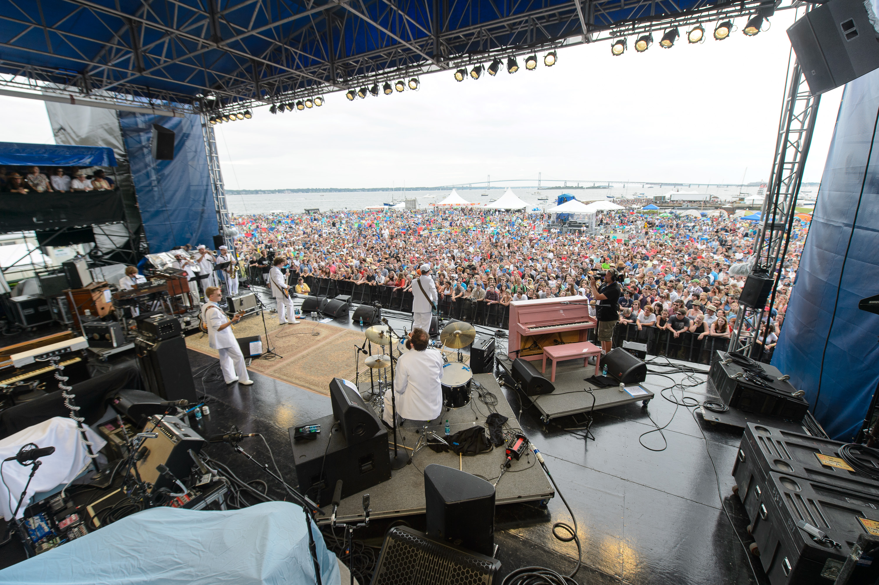 Deer Tick performs at the 2014 Newport Folk Festival