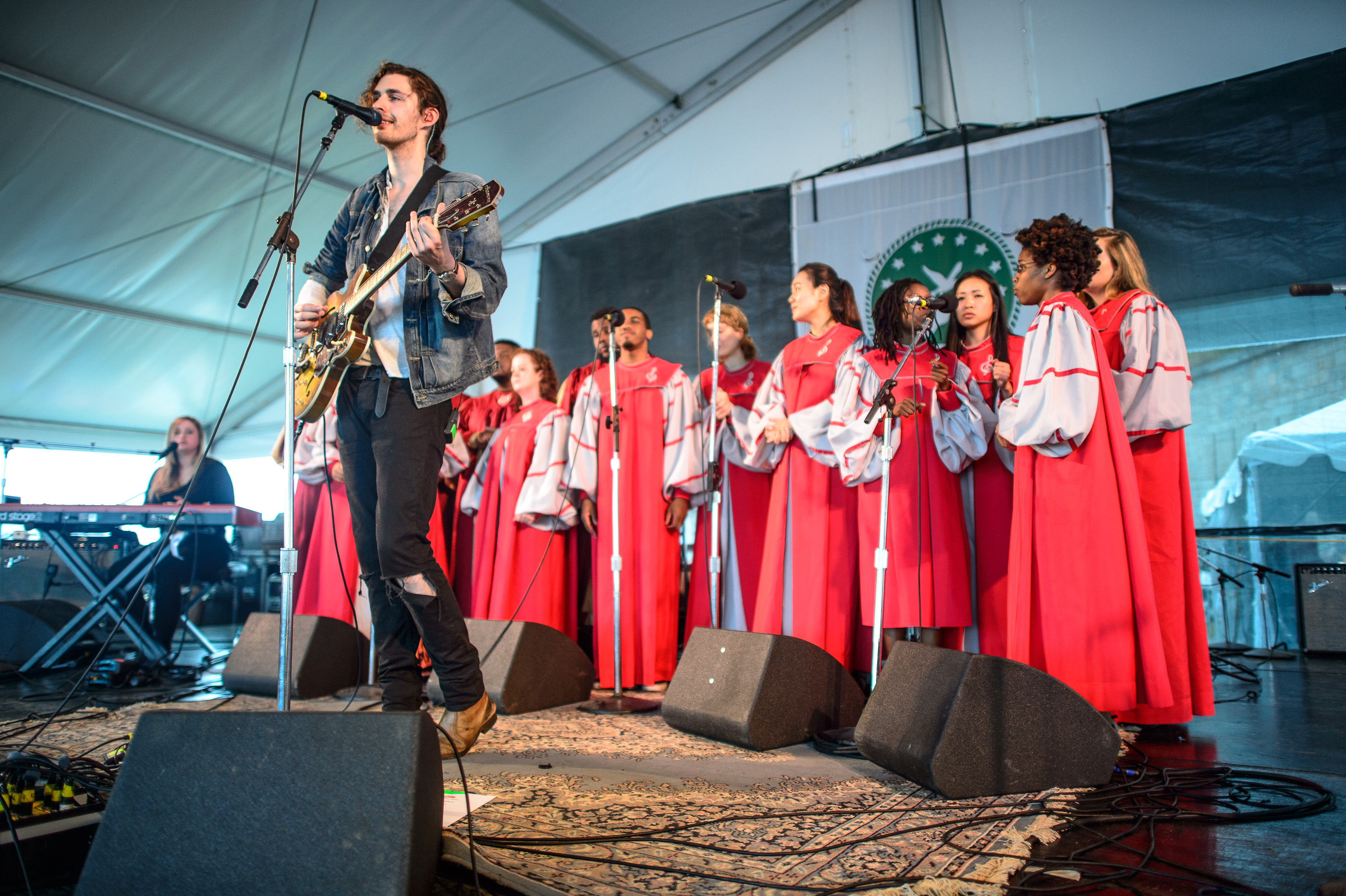 Hozier performs at the 2014 Newport Folk Festival