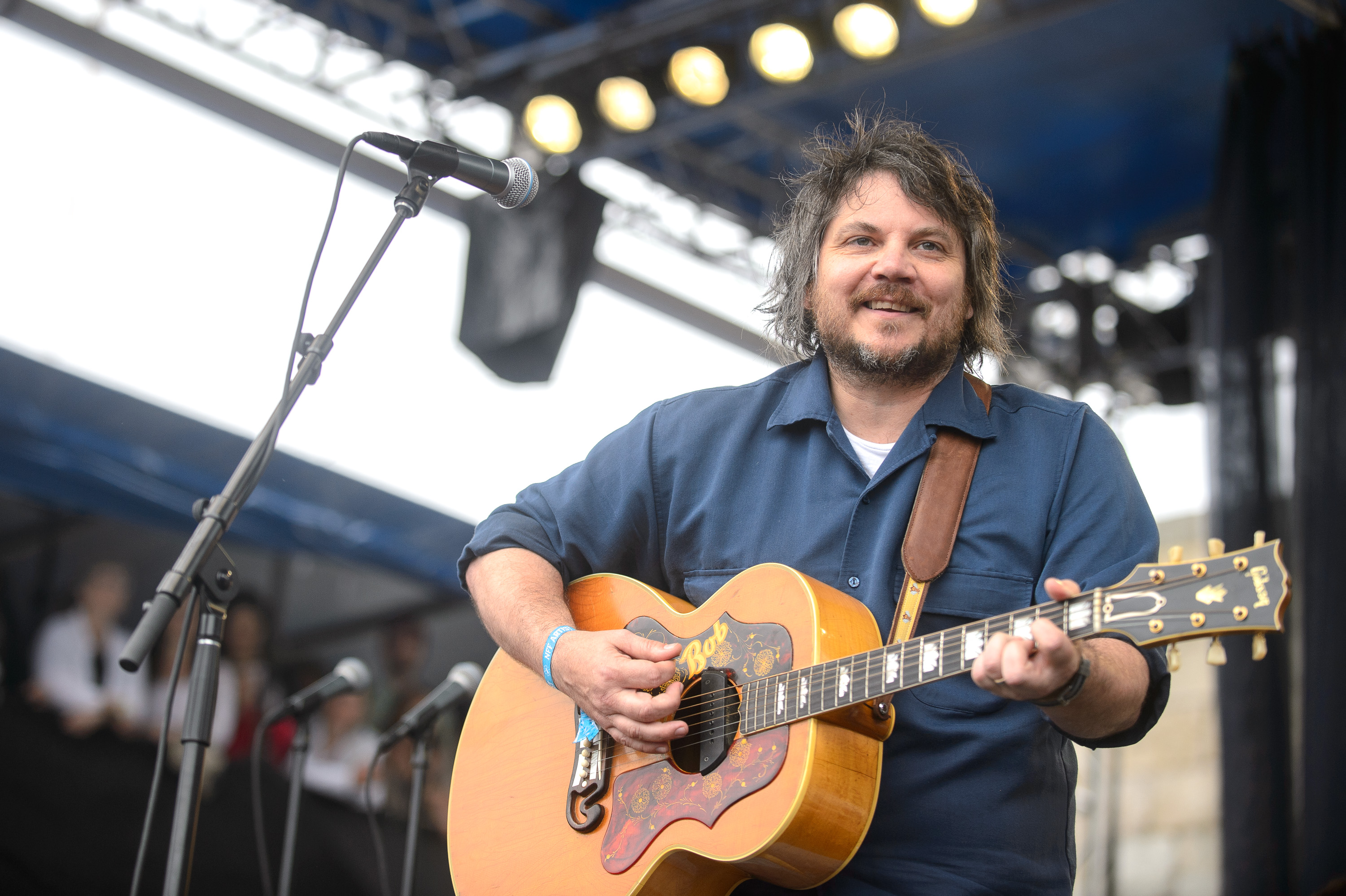 Jeff Tweedy performs at the 2014 Newport Folk Festival