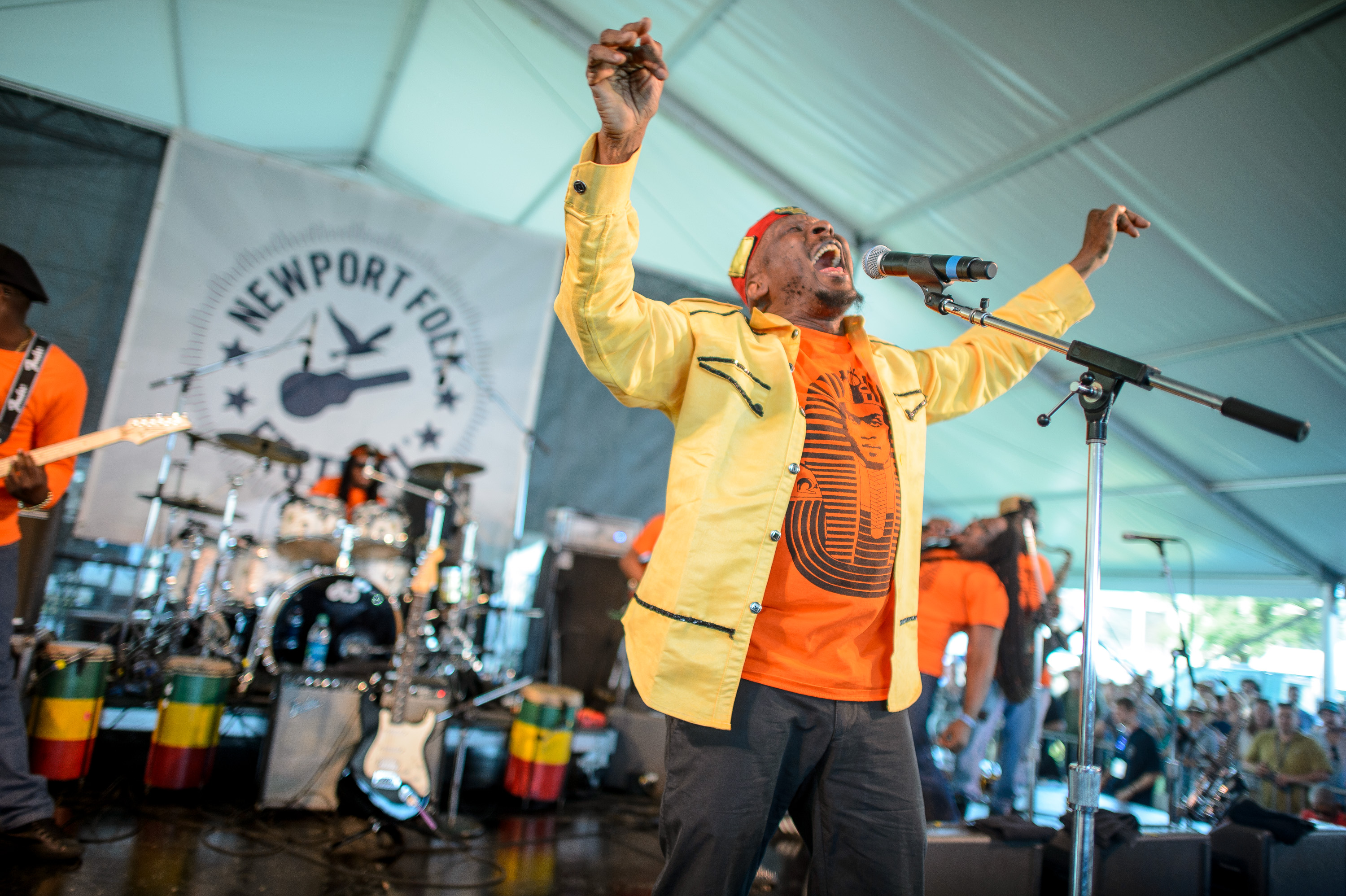 Jimmy Cliff performs at the 2014 Newport Folk Festival