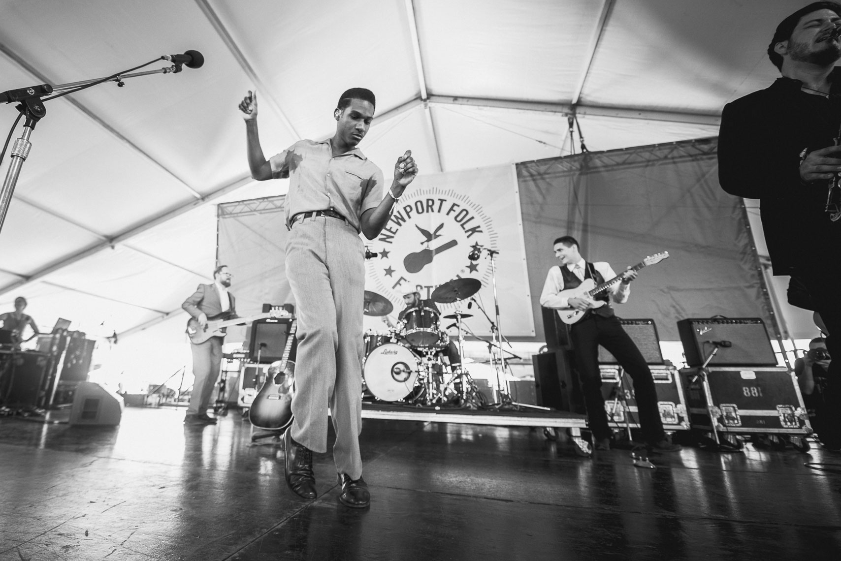 Leon Bridges at Newport Folk