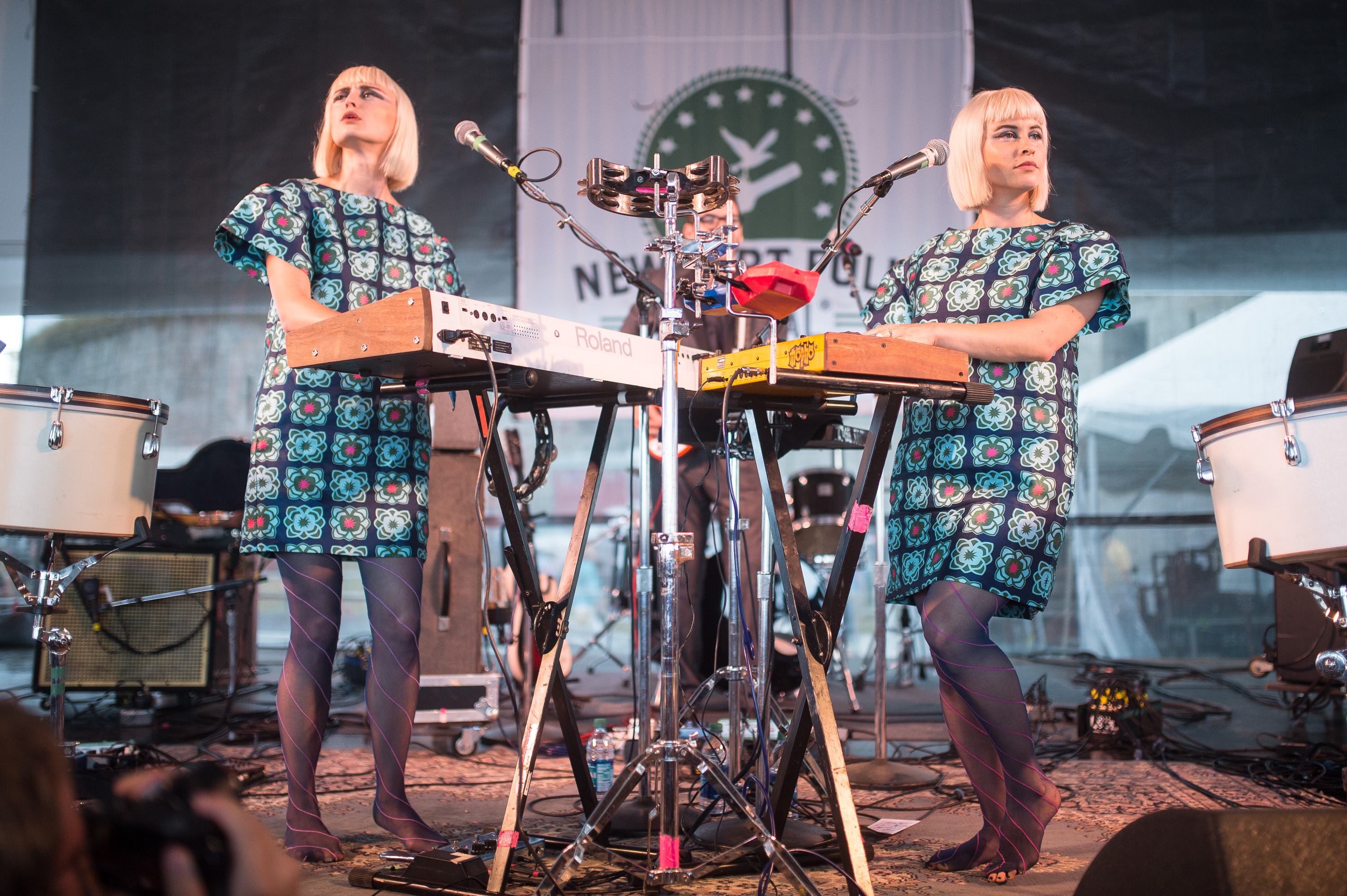 Lucius performs at the 2014 Newport Folk Festival