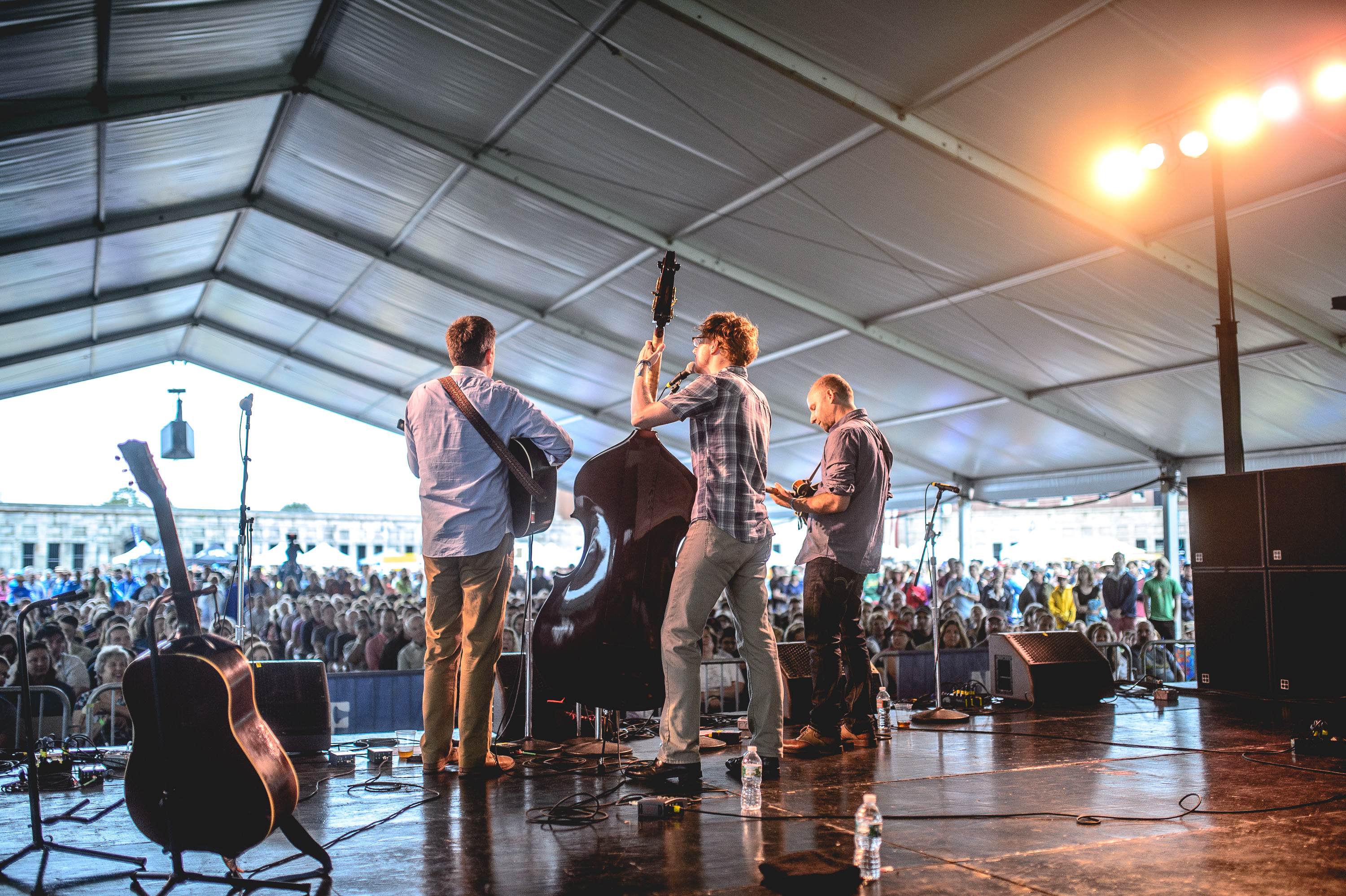 The Lonesome Trio performs at the 2014 Newport Folk Festival-2