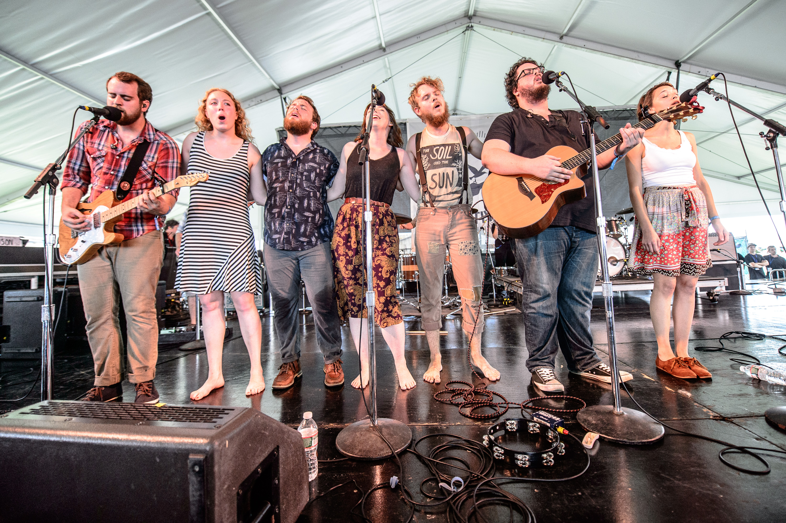 The Oh Hellos perform at the 2014 Newport Folk Festival-5