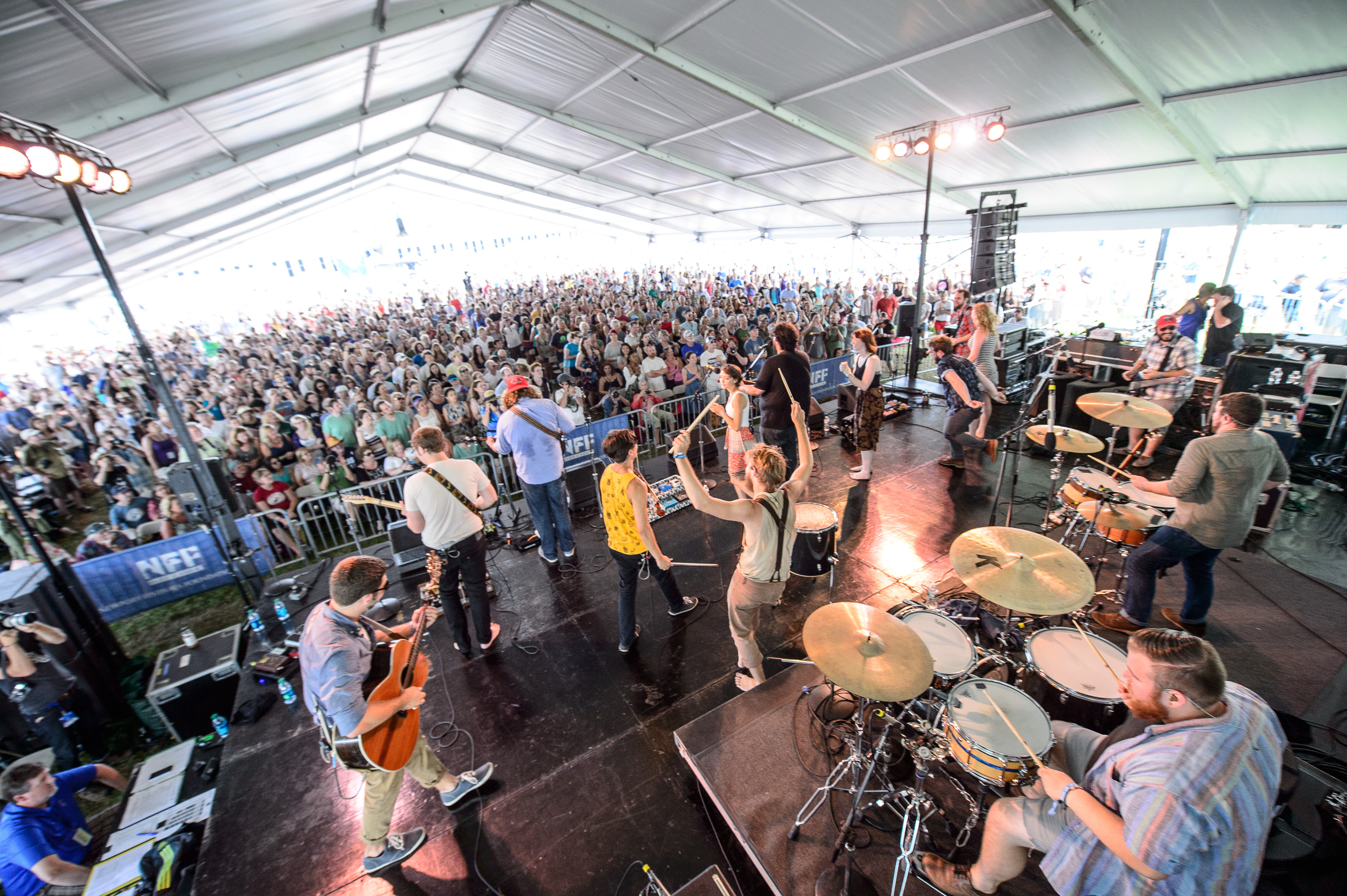 The Oh Hellos perform at the 2014 Newport Folk Festival